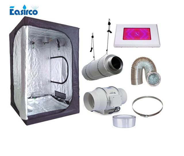 Complete indoor grow tent kits Size 120X120X200CM. with 120W LED grow light and ventilation equipment  sc 1 st  AliExpress.com & Complete indoor grow tent kits Size 120X120X200CM. with 120W LED ...