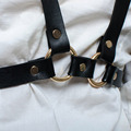 Handmade Punk Goth Sexy Leather Harness Craft Belt Body Bondage Waist Belt Strap