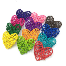 10PCS 7CM Colorful Rattan Heart Sepak Takraw DIY Ball Home Garden/Birthday/Wedding Party Decoration Supplies Kids Gifts