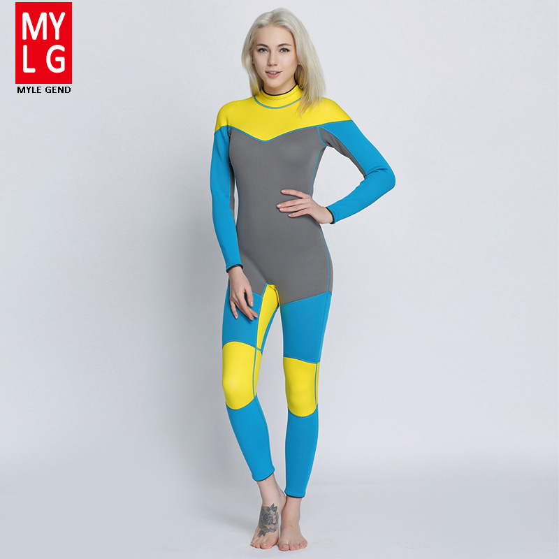 Women's Spearfishing Wetsuit 3MM Neoprene SCR Superelastic Diving Suit Waterproof Warm Professional Surfing Wetsuits Full Suit shanghai chun shu chunz chun leveled kp1000a 1600v convex plate scr thyristors package mail