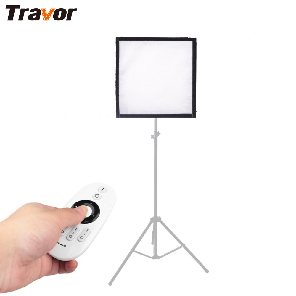 Travor FL-3030 LED Video Light Flexible Panel Light Dimmable Daylight 5600K Studio Photography Light With 2.4G Remote Control цена