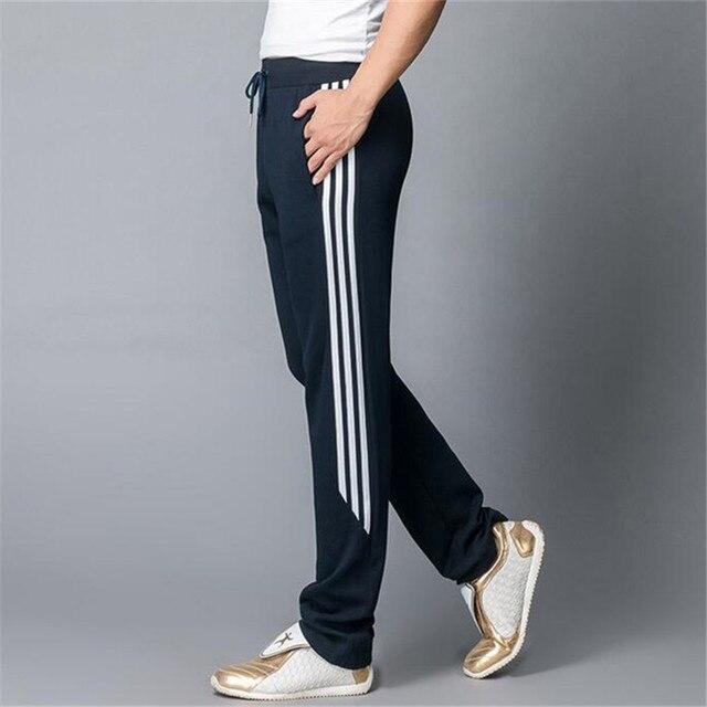 Pantalon homme тренажерный зал одежда 2016 новый досуг моды Края полоса Большой размер брюки увеличить открытый gymshark yeezy мужские бегунов спортивные штаны камуфляж брюки мужские спортивные штаны мужские
