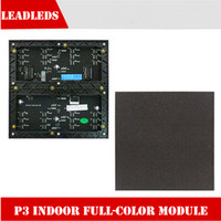 P3 indoor full color led module,1/16 Scan 3in1 RGB high definition full color video led display unit panel