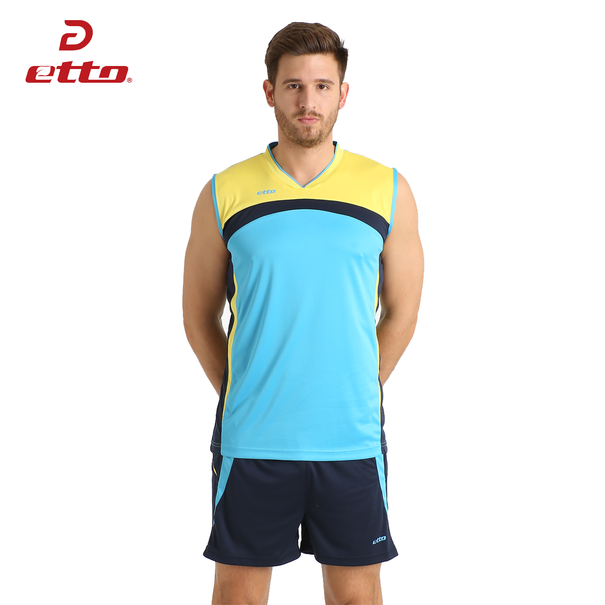 Etto Men Professional Volleyball Uniforms Team Training Quick-dry T-shirt    Shorts Sets Volleyball Jersey Male M~4XL HXB013 f09ea53f3daa3