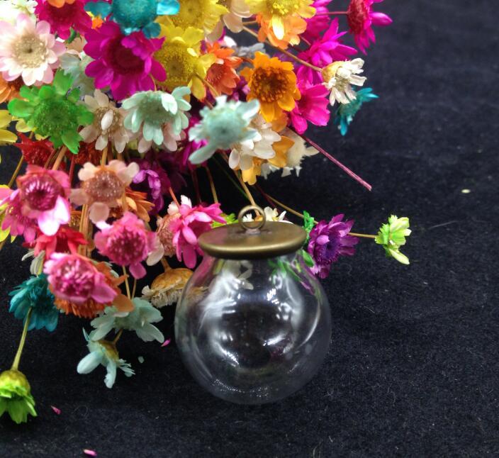 100 zestawów/partia 20*12mm szklana kula podstawa szklana fiolka wisiorek szklana butelka kopuła pokrywa naszyjnik wisiorek urok naszyjnik biżuteria ustalenia w Wisiorki od Biżuteria i akcesoria na  Grupa 2