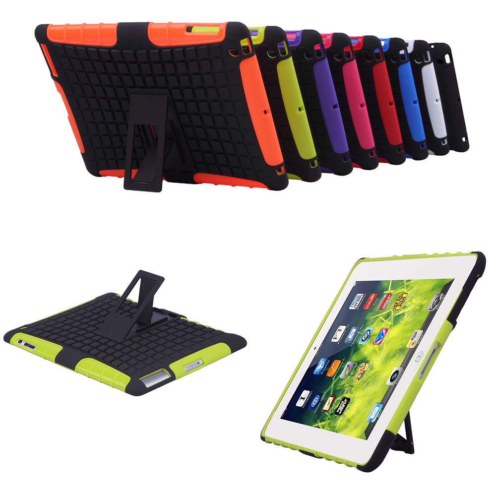 For ipad 2 3 4 Case Cover Rugged Heavy Duty Hard Case Shockproof Non Slip Stand Tablet Case For Apple Ipad with Stylus 8 Colors case for ipad pro 12 9 case tablet cover shockproof heavy duty protect skin rubber hybrid cover for ipad pro 12 9 durable 2 in 1