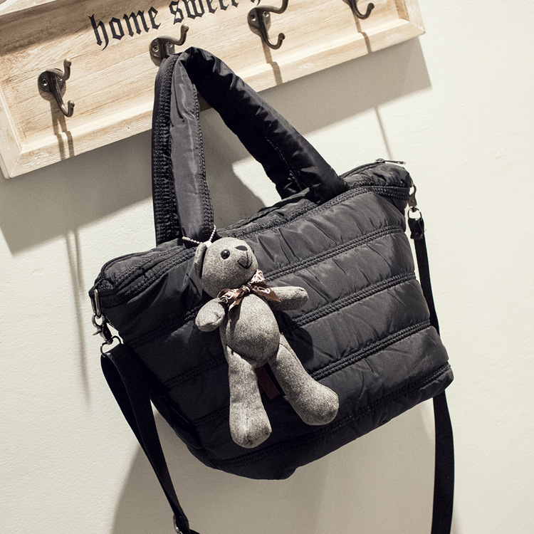 handbags 2016 new retro space bag down jacket portable shoulder Messenger wild