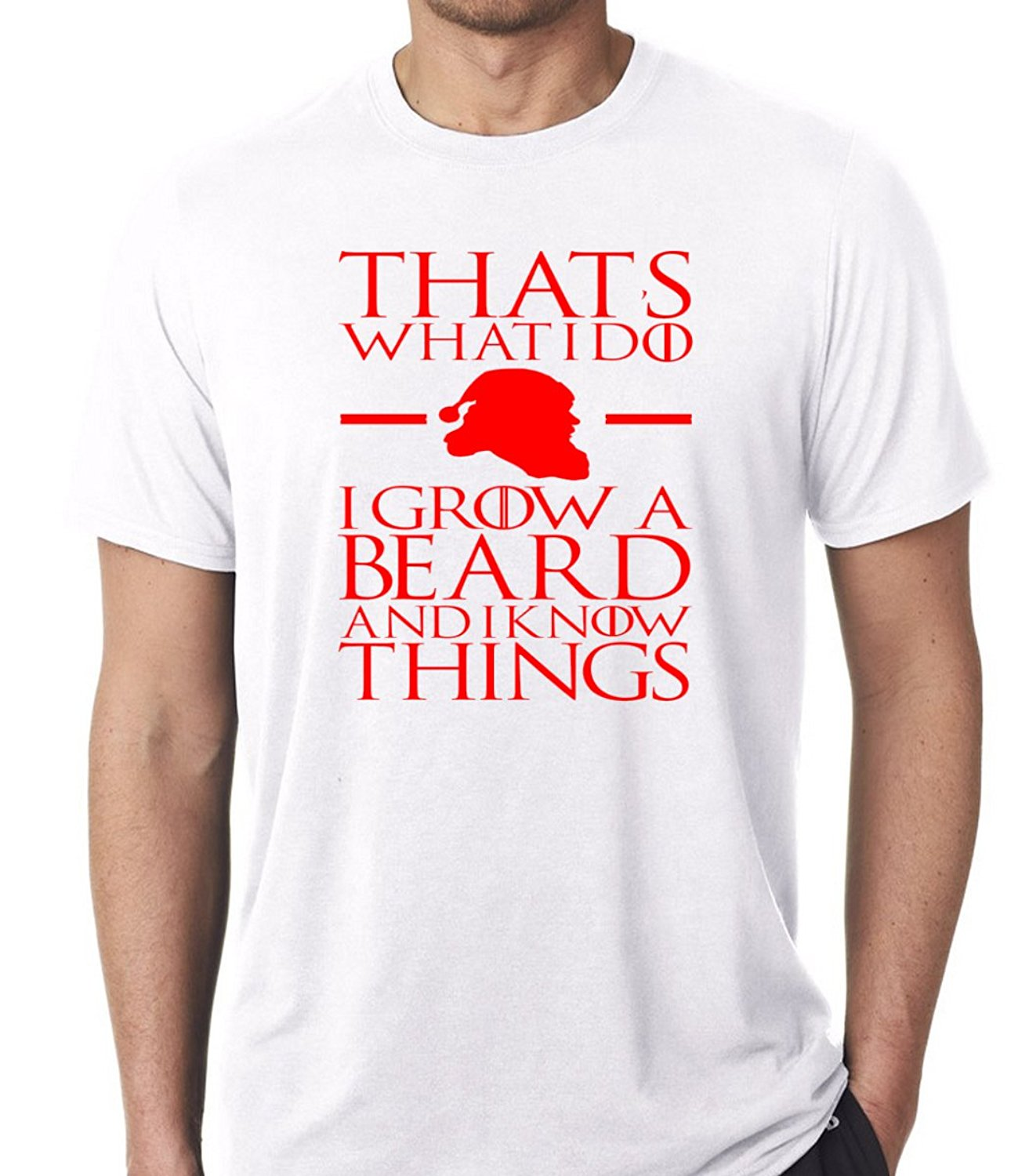 I Grow A Beard and I Know Things - Funny Santa Christmas Day Gift Premium Men's T-Shirt Ment Shirt Summer Style Top Tee