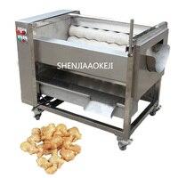 Automatic ginger washing and peeling machine ZH QP800S/380V ginger roller peeling machine Sweet potato cleaning peeling machine