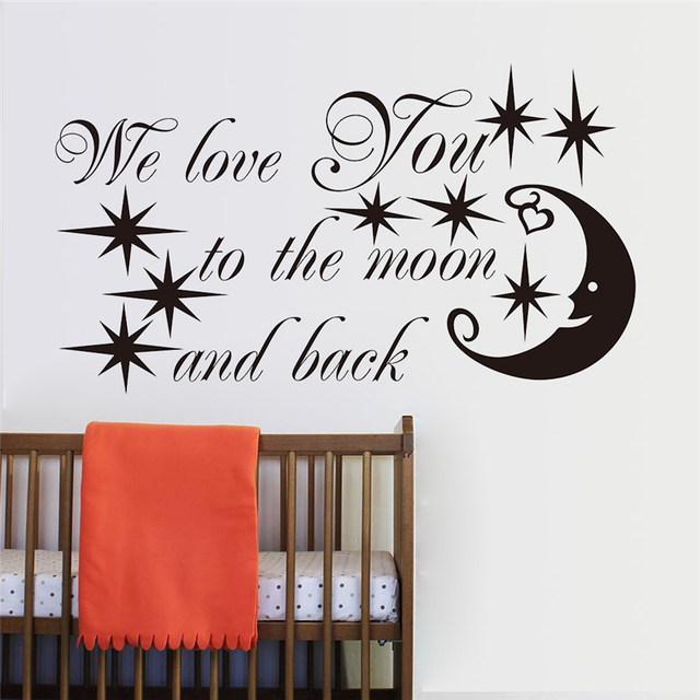 diamond embroidery diy we love you to the moon and back letters wall