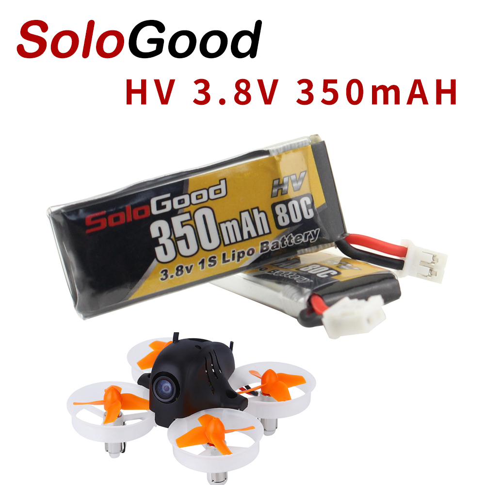 5PCS SoloGood Lipo Batteries 1S 3.8V 350mAh 80C Rechargeable Battery with PH2.0 Plug Connector for Indoor Racing Drone Toy5PCS SoloGood Lipo Batteries 1S 3.8V 350mAh 80C Rechargeable Battery with PH2.0 Plug Connector for Indoor Racing Drone Toy