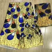 imitated silk fabric high quality 2018 african fabric wholesale soft silk fabric for dress african print fabrics