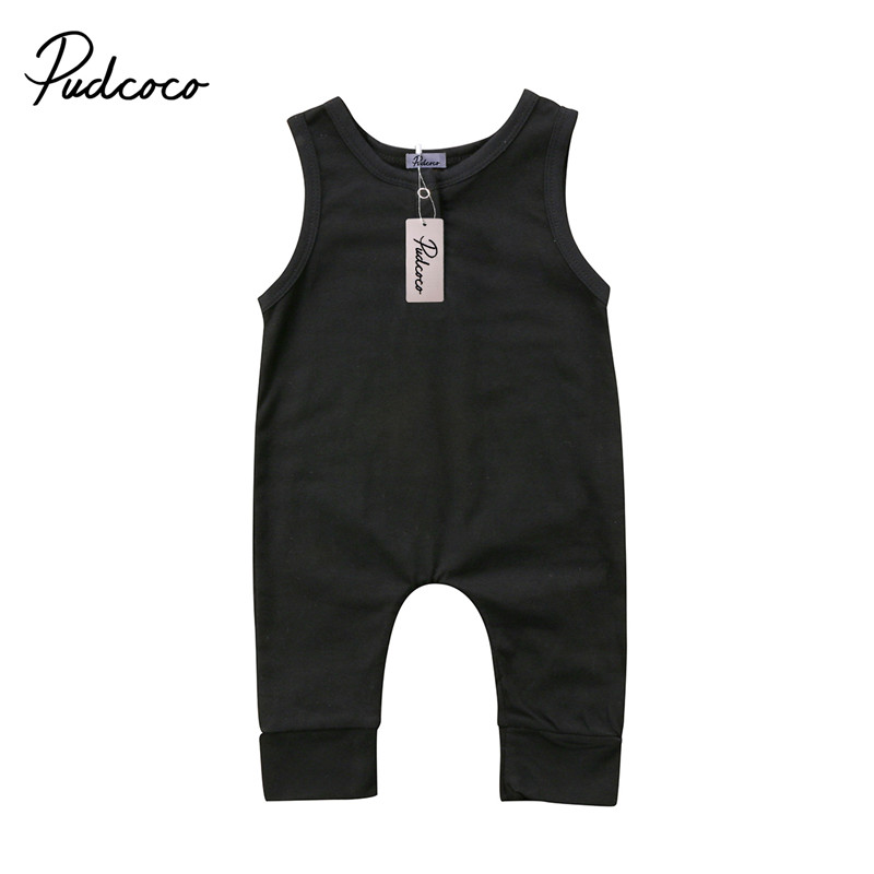 Newborn Infant Baby Girl Boy Sleeveless   Romper   Summer Clothes Jumpsuit Playsuits 0-18M