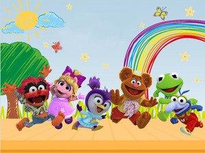 Image 2 - Sxy0238 Sensfun Arcobaleno Nuvole Cielo Pastello Muppet Bambini Fondali Photo Studio Personalizzato Sfondo 7x5ft