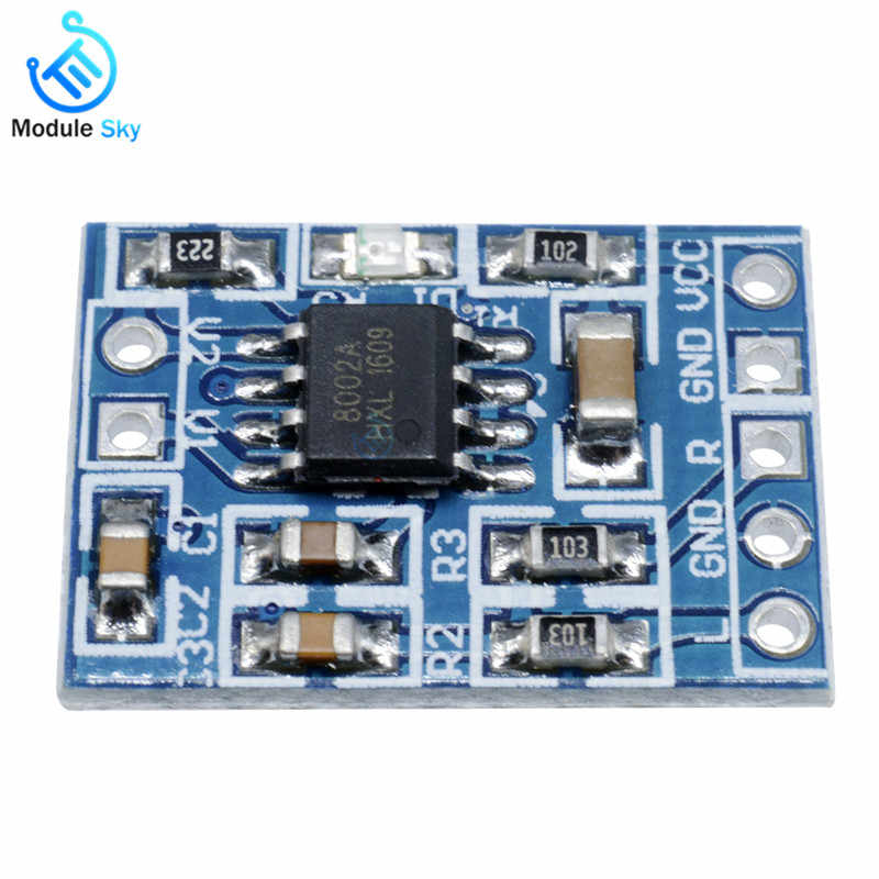 Super Mini HXJ8002 Audio Power Amplifier Board Mono Channel Voice low noise  Amplifiers Module 2 0-5 5V Replace PAM8403