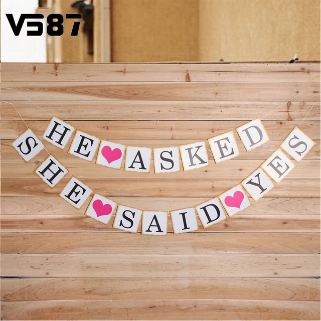 Wedding Engagement Decoration Photo Props Marriage Proposal He Asked