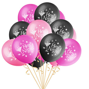 Image 3 - 12inch Penis Letter Latex Balloons Black Offensive Ballons Happy Birthday Decorations Hen Bachelorette Wedding Party Supplies