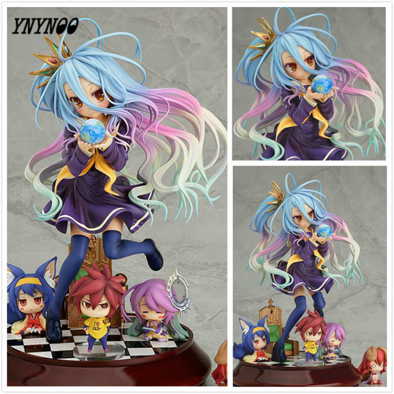 YNYNOO Lovely cartoon movie Action Figure Model Furnishing articles anime No Game No Life 2 hand toy doll kids Holiday gift