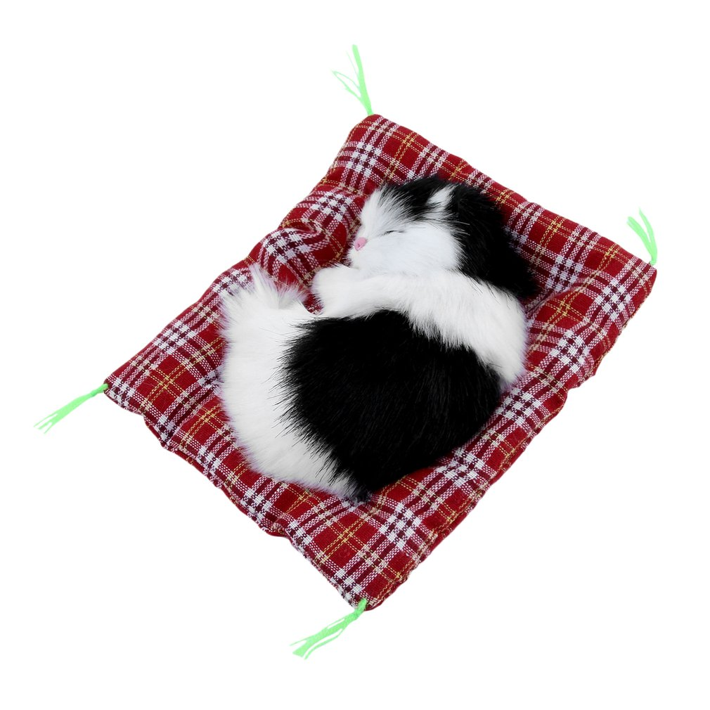 Stuffed Toys Lovely Simulation Animal Doll Plush Sleeping Cats Toy with Sound for Kids Toy Birthday Gift Doll Decorations Toys cikoo stuffed toys lovely simulation animal doll plush sleeping cats toy with sound kids toy decorations birthday gift for child
