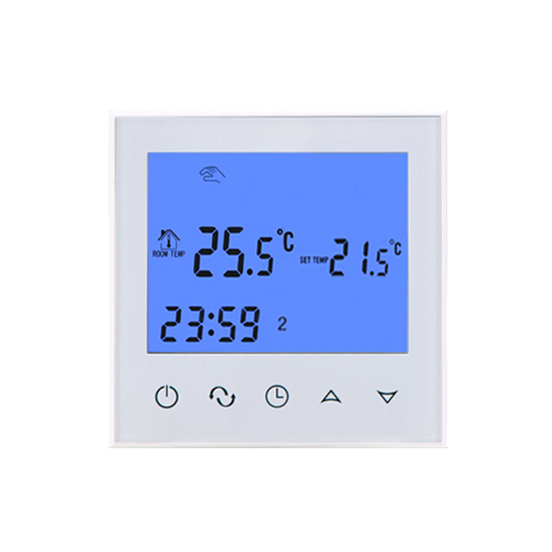 Touch Screen 3A Programmable Room Floor Digital Thermostat Thermoregulator For Water Floor Heating System Temperature Controller hy02tp 16a thermostat socket for room electric floor heating system lcd display digital room plug in thermostat