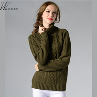 Wmwmnu Low Price Promotion Fashion Turtleneck Warm Winter Sweater Women 2017 New Knitted Pullovers Christmas Sweater