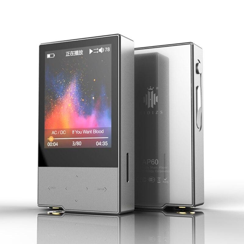 Hidizs AP60 II HiFi Bluetooth Potável 4.0 Apt-x DSD DAC USB Leitor de Música APE FLAC AAC MP3 AKM4452VN MAX97220A AP60II AP60 II