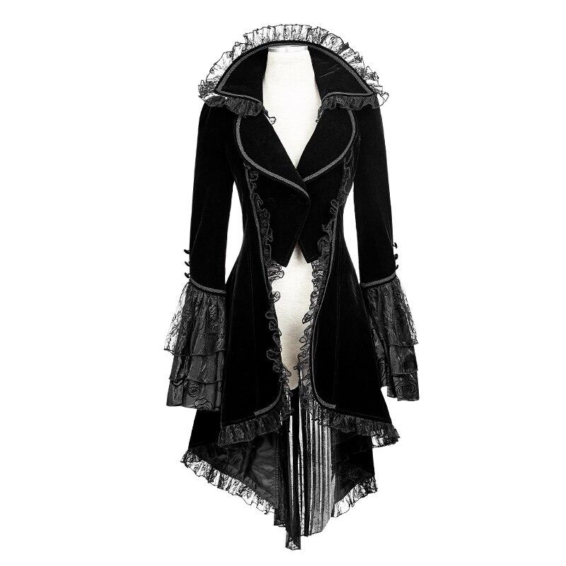 Nouveau Punk Rave gothique Noir veste Rock cosplay Kera Steampunk femmes Sexy Manteau y622