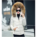 A woman's warm jacket coat for 2016 winter slim plus size artificial fur collar with a thick coat and a stylish women's coat