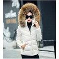 Uma mulher do revestimento do revestimento quente para 2016 inverno plus size fino gola de pele com um casaco de lã grossa artificial e um elegante das mulheres casaco