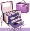 High - grade leather jewelry box jewel case for participants in the make - up box 4 the layers large space watch display box