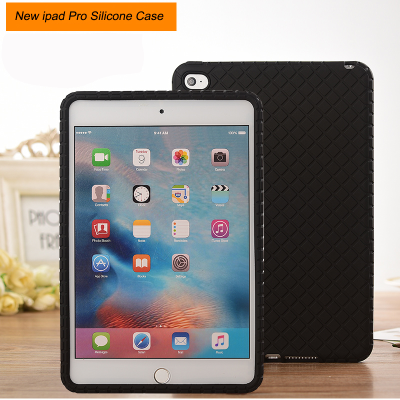 Heavy Duty Rugged Silicone Soft Case For New iPad Pro 9.7 Rugged ShockProof Protective Cover For 2017 iPad Pro 9.7inch Tablet case for ipad pro 12 9 case tablet cover shockproof heavy duty protect skin rubber hybrid cover for ipad pro 12 9 durable 2 in 1