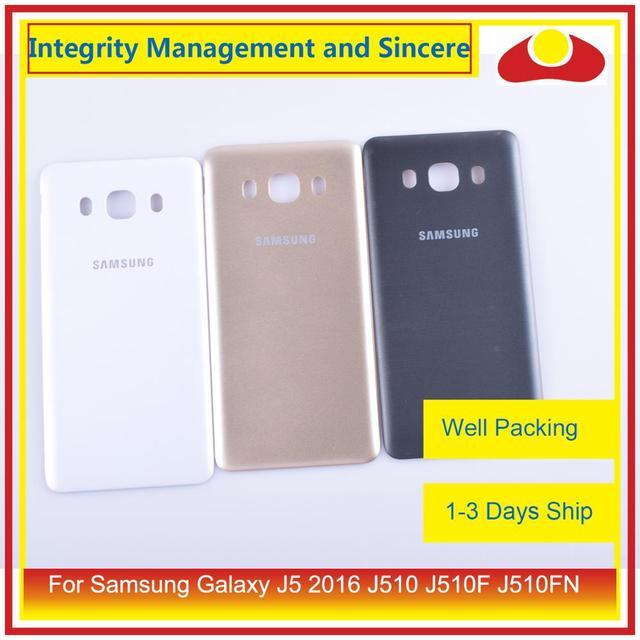50 pçs/lote Para Samsung Galaxy J5 2016 J510 J510F J510FN J510H J510G Porta Traseira Da Bateria Habitação Capa Case Chassis Shell