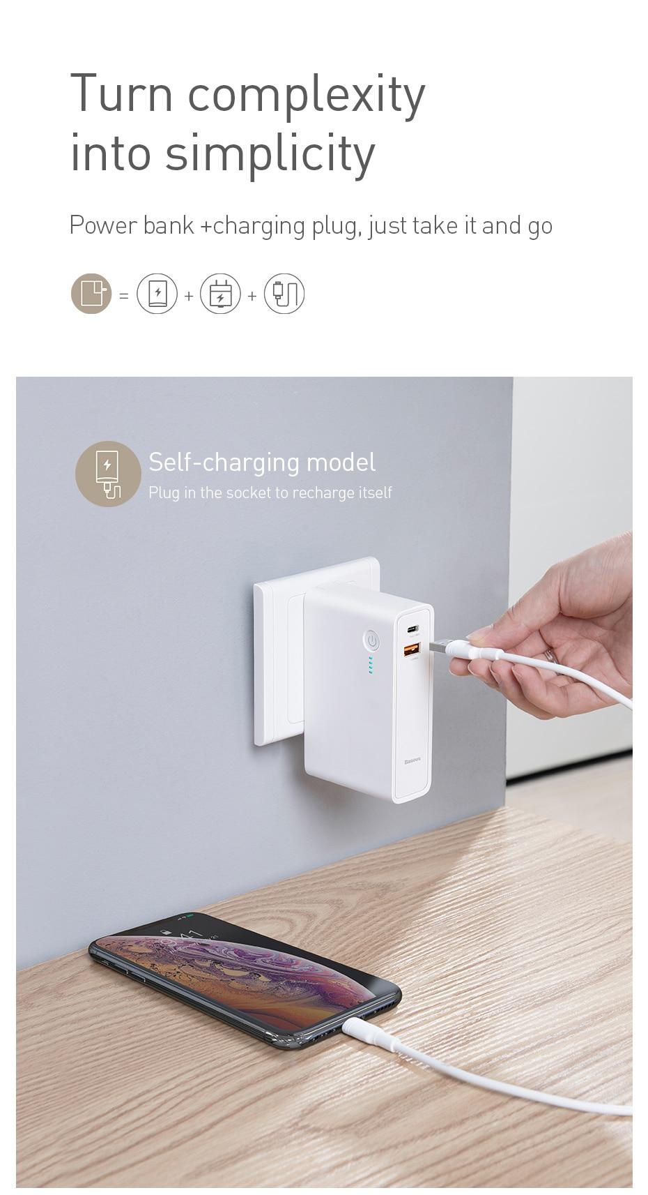 baseus 18w pd charger powerbank
