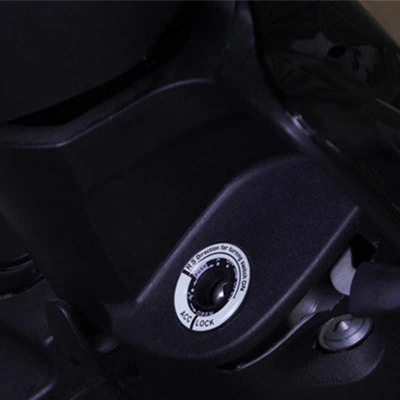 רכב זוהר מפתח טבעת חור מדבקת Lumunous הצתה מתג כיסוי אופנוע מדבקות עבור הונדה טויוטה ימאהה סוזוקי פורד פולקסווגן אופל BMW