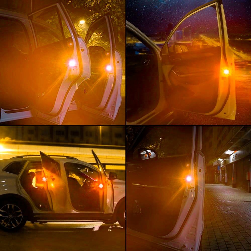 4pcs Car-styling Yellow Car Warning Light Strobe Light Door Light Traffic Signal Lamp For BMW Volkswagen Citroen Toyota Audi