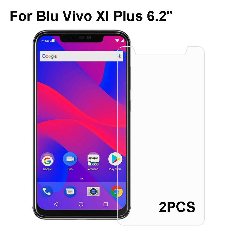 2PCS Blu Vivo XI Plus Tempered Glass 9H High Quality Protective Film Explosion-proof Screen Protector For Blu Vivo XI Plus image