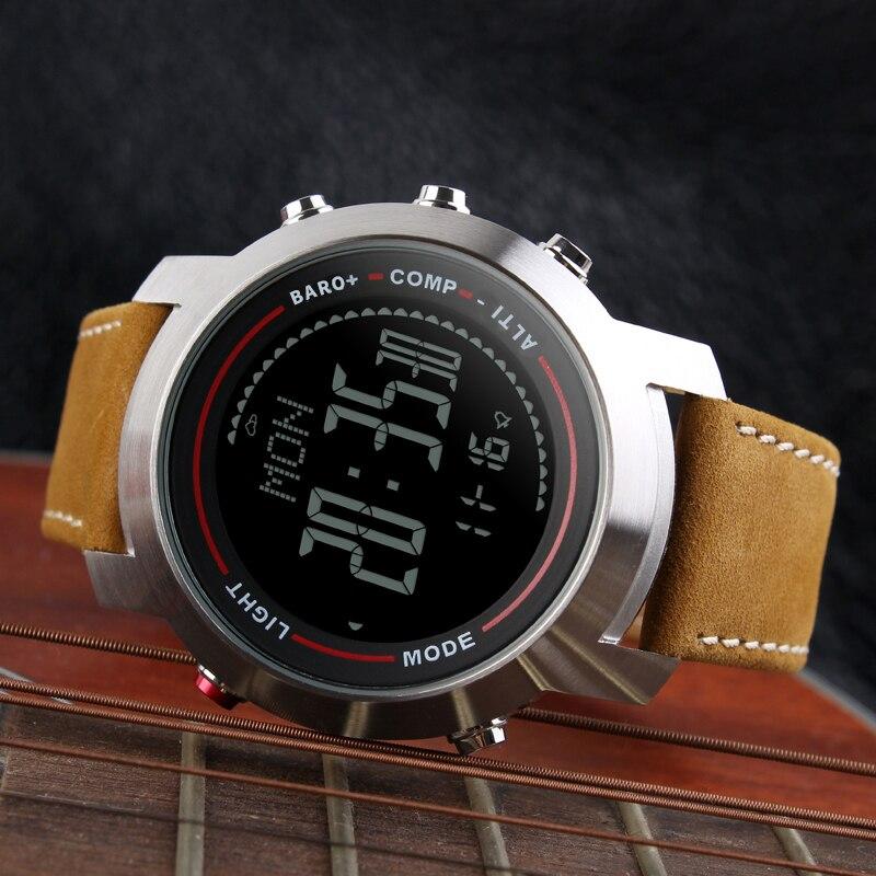 CAINO hommes sport montres numériques boussole altimètre baromètre bande de cuir mode montres d'extérieur horloge Relogio Masculino - 3