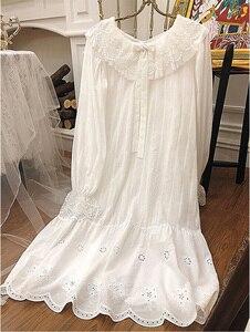 Image 5 - Womens Palace Style Dress Vintage Princess Sleepshirts.Lolita Lace Bow Nightgowns.Victorian Nightdress Ruffles Lounge Sleepwear