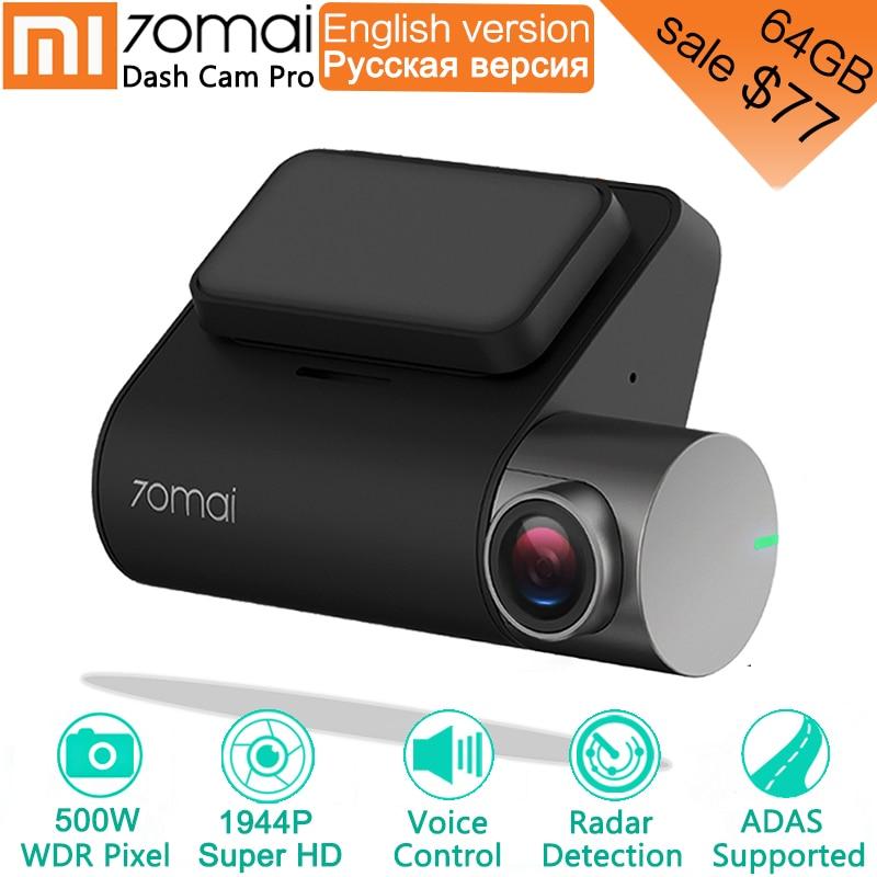 Xiaomi 70mai Pro Dash Cam 1944 P GPS ADAS Voiture DVR 70 mai Dashcam Commande Vocale 24 HParking Moniteur 140FOV Vision Nocturne Caméra WIFI camera voiture