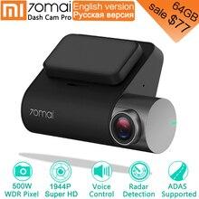 Xiaomi 70mai Pro Dash Cam 1944 P GPS ADAS Auto DVR 70 mai Dashcam Controllo Vocale 24 HParking Monitor 140FOV di Visione Notturna WIFI Della Macchina Fotografica