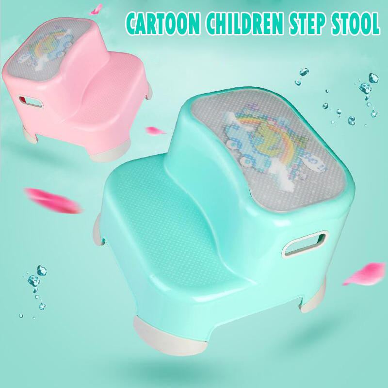 Kids Plastic Step Stool Bathroom Toilet Anti-slip Step Stool