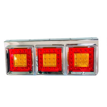 1Pair 60CM 24V LED Truck Trailer Lorry Tail Light Red Yellow Stop Turn Signal for Mitsubishi