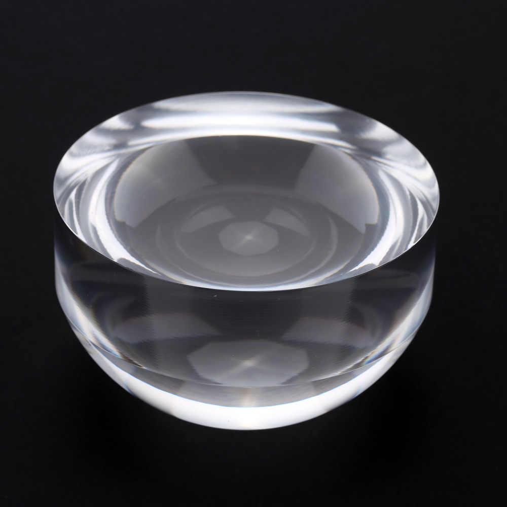 5X80 milímetros Lupa Acrílico Cristal Paperweight Cúpula Mapa Ferramenta de Ampliação para a Leitura Lupa Lupa