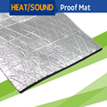 "10CM x 100CM 4"" x 40"" Car Heat Shield Sound Noise Proof Insulation Mat Material Deadening Aluminum Foil Deadener Self-Adhesive"