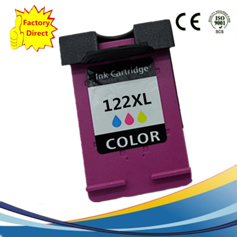 Color Ink Cartridges Remanufactured For HP122 XL 122XL HP122 <font><b>HP122XL</b></font> Deskjet 1000 1050 2000 2050 2050s 3000 3050A 3052A 3054A image
