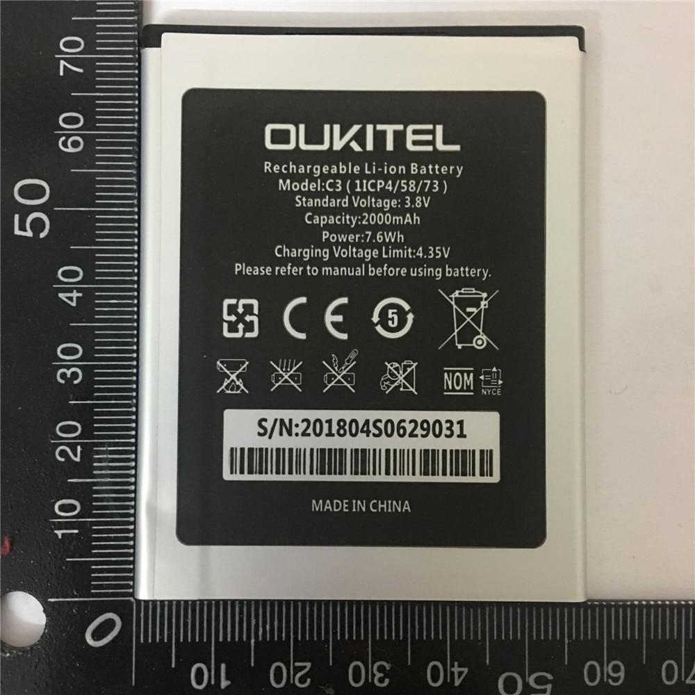 100% D'origine de Haute Qualité Nouvelle 2000 mAh Pour Oukitel C3 batterie Pour Oukitel C3 téléphone Batterie + numéro de suivi