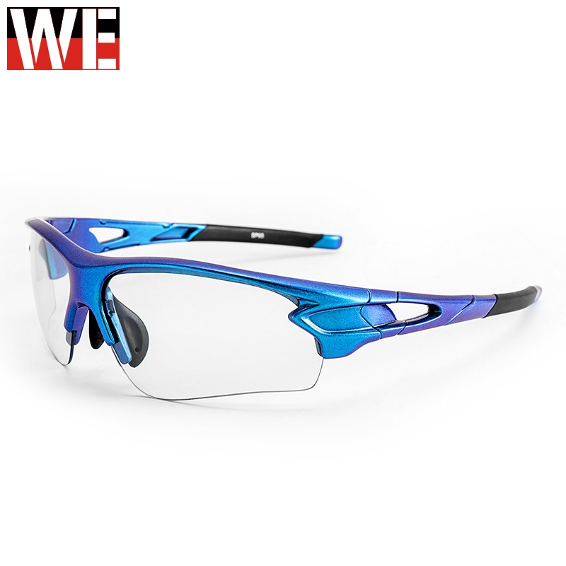 ROCKBRO Photochromic UV400 Motocross Racing Glasses Myopia Frame Gradient Blue Sport Sunglasses Men Women Motorcycle Eyerwear(China)