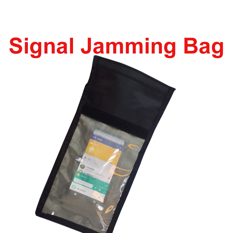 Anti-Scan Card Sleeve Phone Bag Ok For 1-3 Phones Function Of Anti-tracking Anti-spying  Jammer Bag NFC RFID Anti-Scan Card Bag