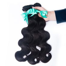 Indian Hair Body Wave Extensions 1 Piece Human Hair Weave Bundles Natural Color Non Remy Free Shipping(China)