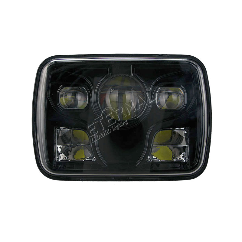 free shipping 5x7 50W offroad headlight truck headlamp for car motor Wrangler pick-up trucks hi low beam H4 headlight led kit 50w universal car truck 9004 led headlight conversion kit lamp h l 1800lm